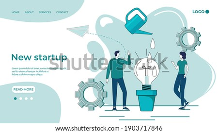 Businessman thinks new strategies to grow up the company. double exposure Stock photo © alphaspirit