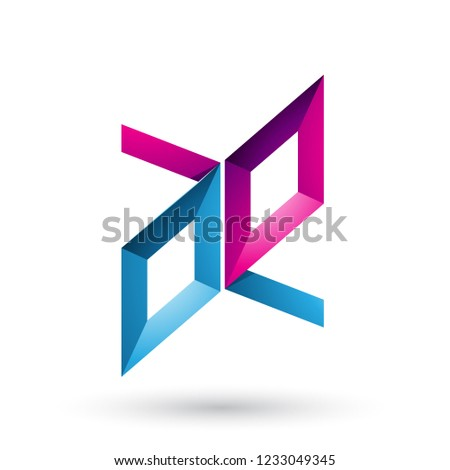 Blu magenta frame come lettere vettore Foto d'archivio © cidepix