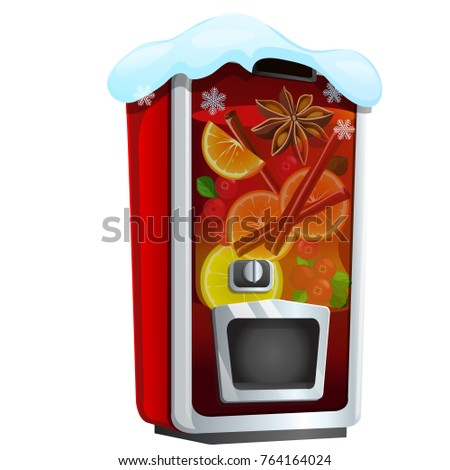 Machine for sugary soda water or mulled wine isolated on a white background. Sketch of Christmas fes Stock photo © Lady-Luck