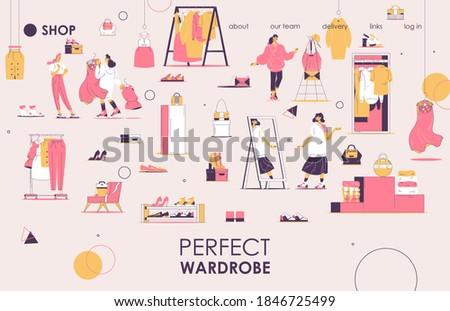 fashion house concept landing page stock photo © rastudio