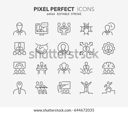 Employee productivity icon for corporate management or business  Stock photo © ussr