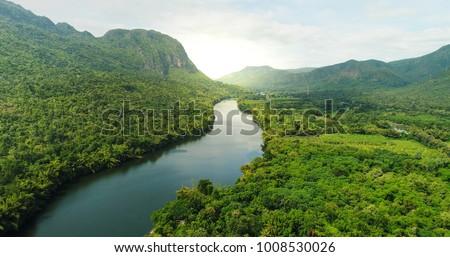 Cena rio floresta ilustração natureza paisagem Foto stock © colematt