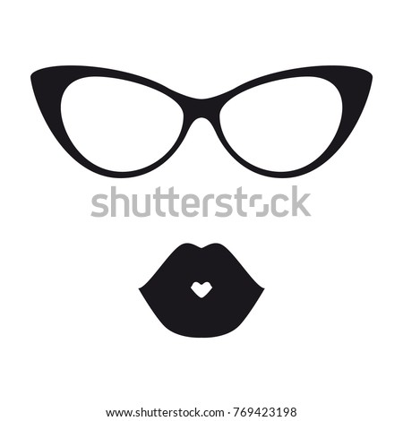 Woman Female Glasses Vector. Hipster Frame Cool Glasses. Fashion Accessory. Transparent 3D Realistic Stock photo © pikepicture