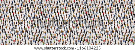 Large group of people. Seamless background. Business people, teamwork concept. Flat vector illustrat Stock photo © makyzz