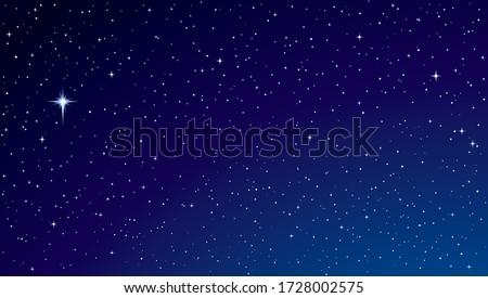 Night sky with stars and nebula. Elements of this image furnishe Stock photo © NASA_images