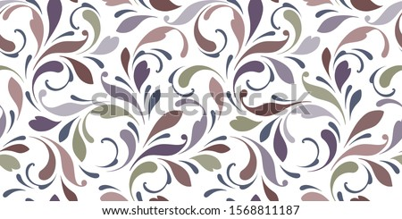 Filigree Leaf Pattern Floral Scroll Pattern Stock photo © Krisdog