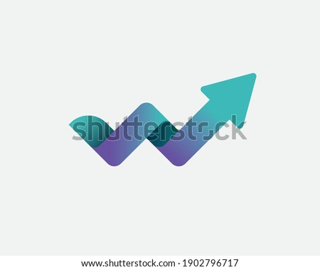 List w w górę arrow czas odizolowany biały Zdjęcia stock © kyryloff