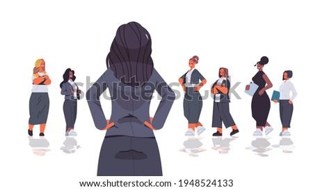 Elöl kilátás boldog vonzó női igazgató Stock fotó © wavebreak_media