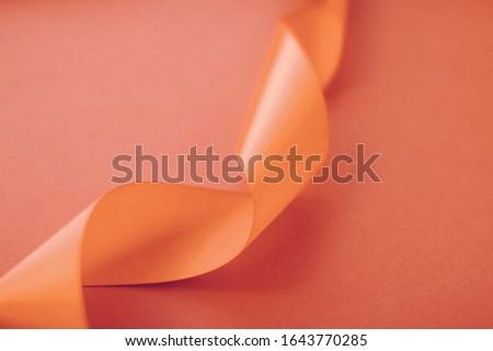 抽象的な シルク リボン オレンジ 排他的な ストックフォト © Anneleven