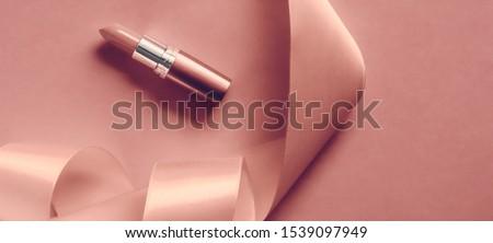 高級 口紅 シルク リボン ピンク ストックフォト © Anneleven