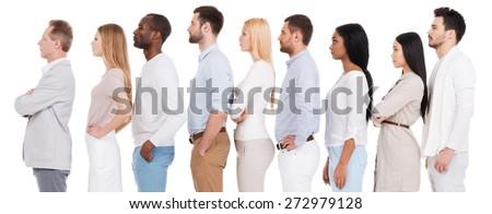 Widok z boku różnorodny ludzi biznesu patrząc poważny piśmie Zdjęcia stock © wavebreak_media