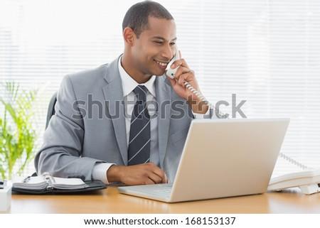 Elöl kilátás jóképű fiatal üzletember áll Stock fotó © wavebreak_media