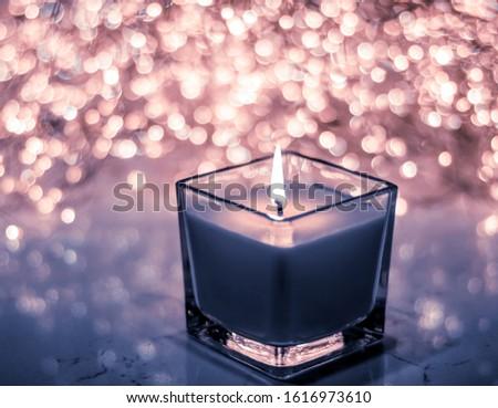 青 芳香族の キャンドル クリスマス 新しい 年 ストックフォト © Anneleven