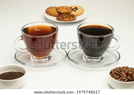 White chocolate biscuit cookies on black ceramic plate on black kitchen table background. Stock photo © DenisMArt
