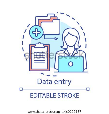 Data entry concept vector illustration. Stock photo © RAStudio
