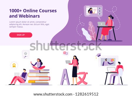Online IT courses concept landing page Stock photo © RAStudio