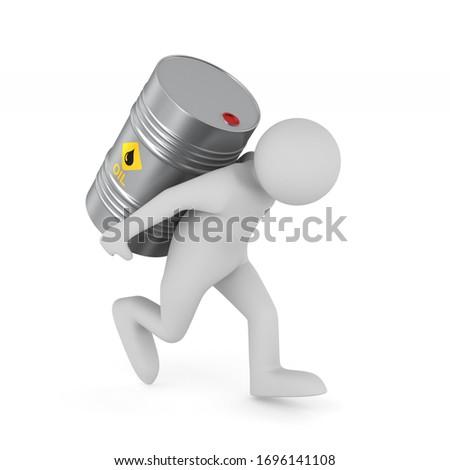 Hombres petróleo barril cuadro atrás Foto stock © ISerg