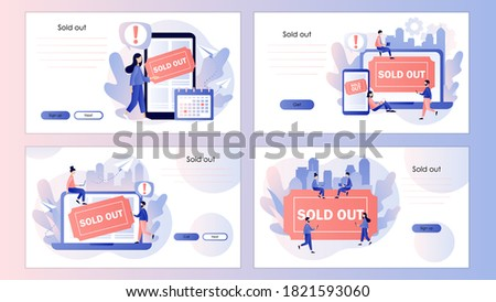 Sold-out event concept landing page. Stock photo © RAStudio