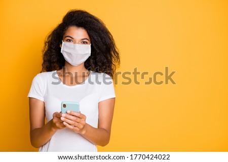 covid19 coronavirus pandemic outbreak background with black virus cell Stock photo © SArts