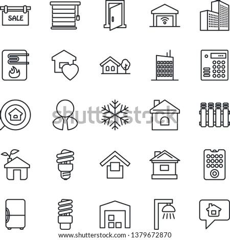 Rezidential clădirilor icoană vector schita ilustrare Imagine de stoc © pikepicture