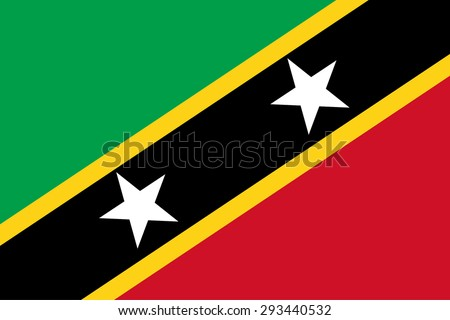 Saint Kitts and Nevis flag, vector illustration on a white background Stock photo © butenkow
