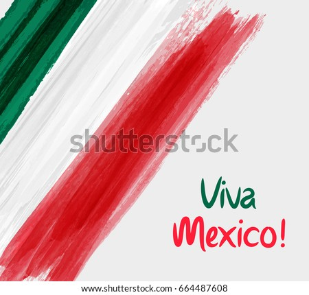 Mexican flag, vector illustration on a white background. Stock photo © butenkow