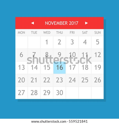 Simple black calendar icon with 11 november date isolated on white Stock photo © evgeny89