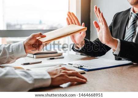 businessman manager refusing receive money in the envelope disgu Stock photo © snowing