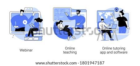 Online tutoring app and software abstract concept vector illustration. Stock photo © RAStudio