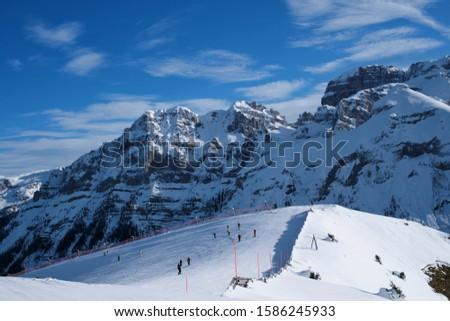 Esquiar recorrer Itália panorama montanhas Foto stock © dmitry_rukhlenko