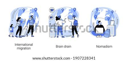 Nomadism abstract concept vector illustration. Stock photo © RAStudio