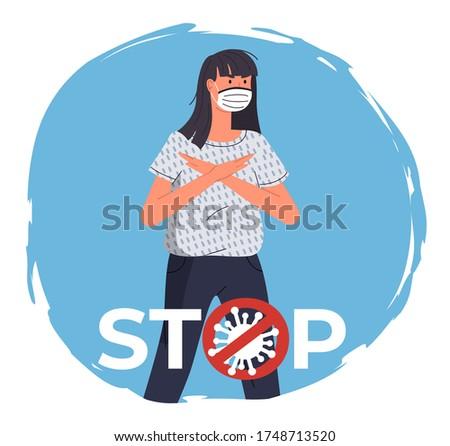 медицинской лице маске женщины вирусный коронавирус Сток-фото © robuart