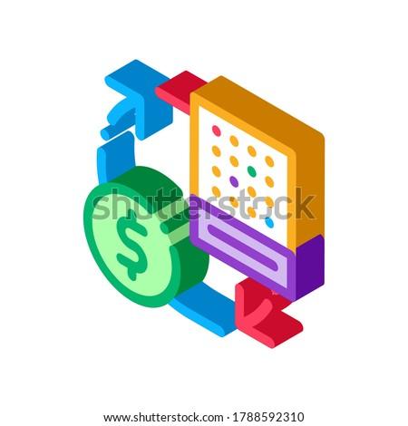 Scambio lotteria foglio soldi isometrica icona Foto d'archivio © pikepicture