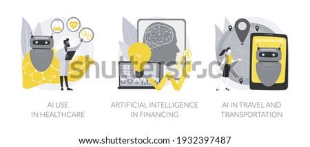AI use in healthcare concept vector illustration. Stock photo © RAStudio