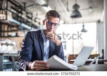 Confident businessman Stock photo © leeser