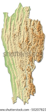 Map Of India Mizoram Highlighted Vector Illustration Steffen - India map vector