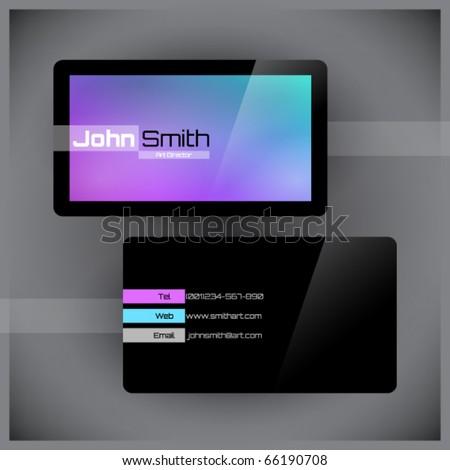 Absztrakt fényes kék névjegy üzlet háló Stock fotó © rioillustrator