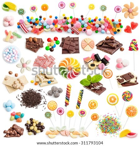 delisious sweet praline collection mixed isolated Stock photo © juniart