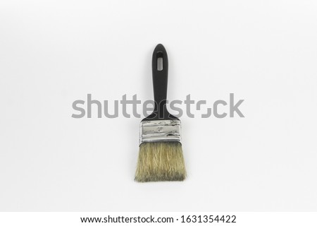 Green brush stroke forming a semicircle against a white background Stock photo © wavebreak_media