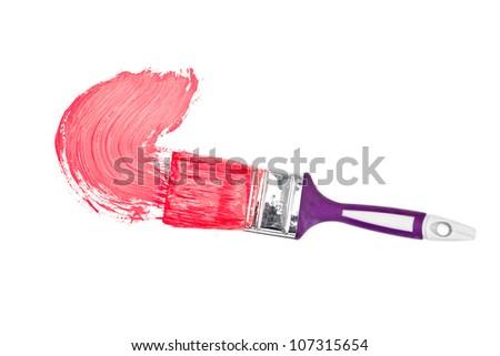 Magenta ecset fehér művészet oktatás piros Stock fotó © wavebreak_media