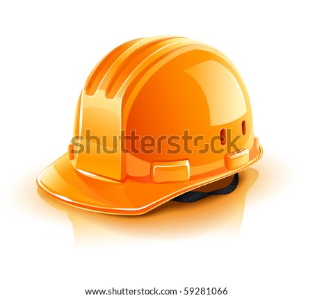 Architectural drawings and orange construction helmet on white b Stock photo © luckyraccoon
