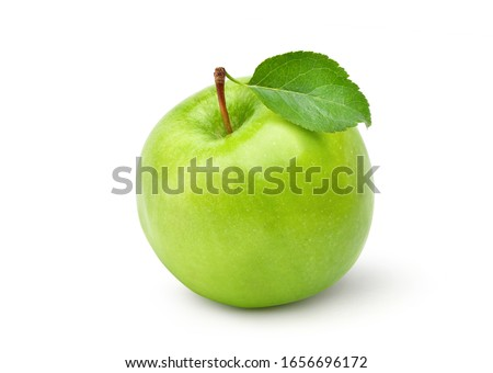 Green apple. Isolated on white background. Large depth of field. Stock photo © moses