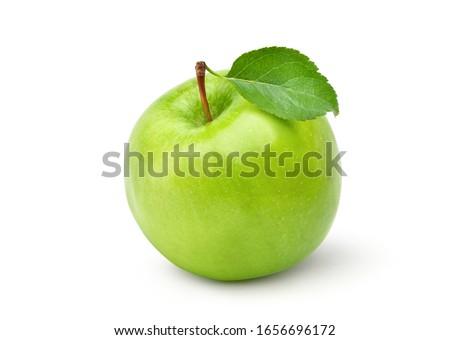 groene · appel · geïsoleerd · witte · groot · veld - stockfoto © moses