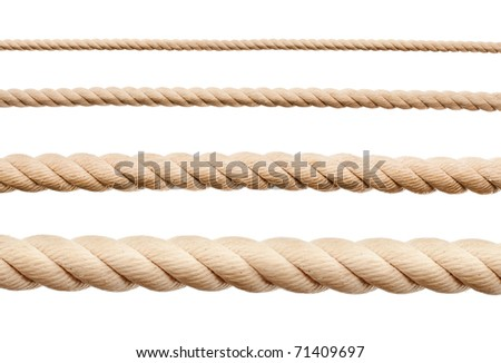 Stock photo: New rope isolated
