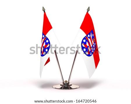 miniatura · bandeira · isolado · reunião · fundo - foto stock © bosphorus
