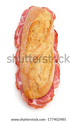 spanish bocadillo de lomo embuchado, a sandwich with cold meats  Stock photo © nito