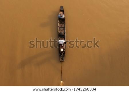 Pêcheur rivière illustration eau poissons nature Photo stock © adrenalina