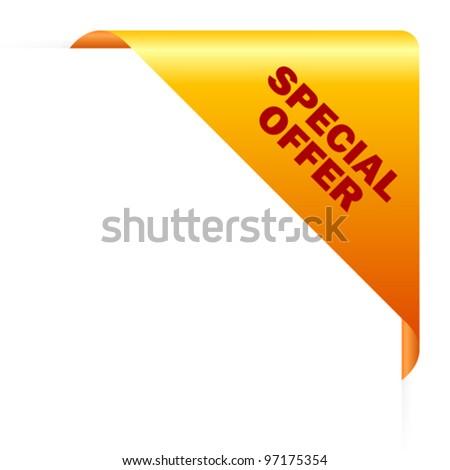 Top Offer Yellow Vector Icon Design Stock photo © rizwanali3d
