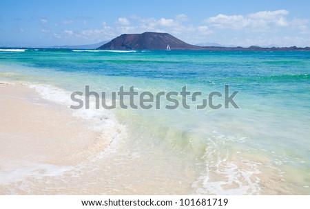 strand · Spanje · hemel · water · landschap - stockfoto © lunamarina
