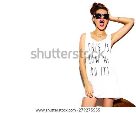 sexy · s'adapter · jeune · femme · été · vêtements - photo stock © studiotrebuchet